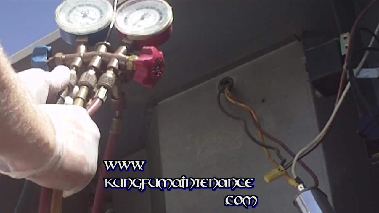 How To Recognize And Charge An Air Conditioner That Is Low On Freon Recharge Your Central Cracking The Side Service Valve