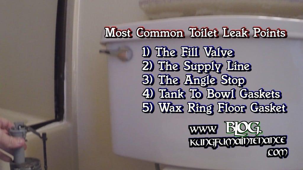 Five Most Common Toilet Leak Points